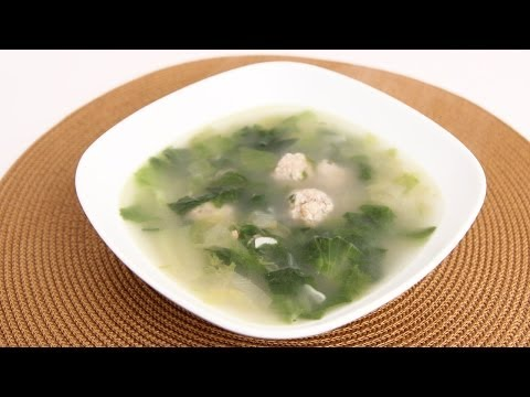 Homemade Escarole Soup Recipe - Laura Vitale - Laura in the Kitchen Episode 710