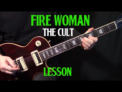 "lesson| how to play ""Fire Woman"" on guitar by The Cult 
