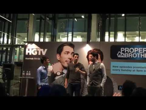 HGTV's Property Brothers in Singapore - Celebrity Meet & Greet with Emcee Lester Leo