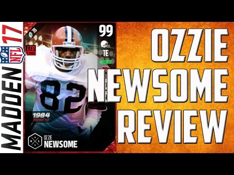 How Good is 99 Overall Boss UL Ozzie Newsome? MUT 17 Player Review