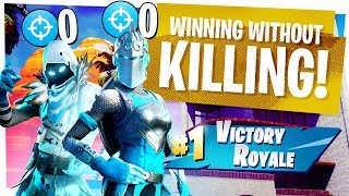 WINNING without KILLING ANYONE in Fortnite DUOS - We totally didn't cheat...