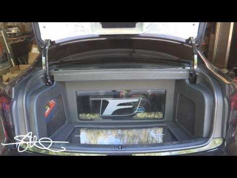 Lexus ISF Sound System Install Video 5 - Power Wire, Fiberglass, Leather/French Seam