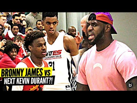 BRONNY JAMES VS EMONI BATES GETS LEBRON HYPE!! NEXT LEBRON VS NEXT KD?!