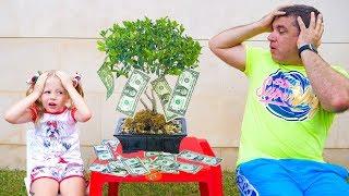 Stacy plantó un árbol de dinero y compró juguetes