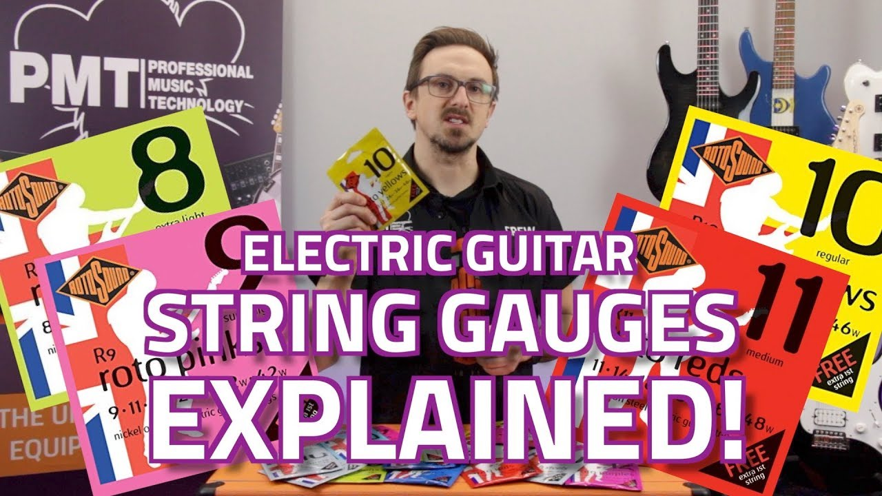electric guitar string gauges explained what 39 s the difference youtube. Black Bedroom Furniture Sets. Home Design Ideas