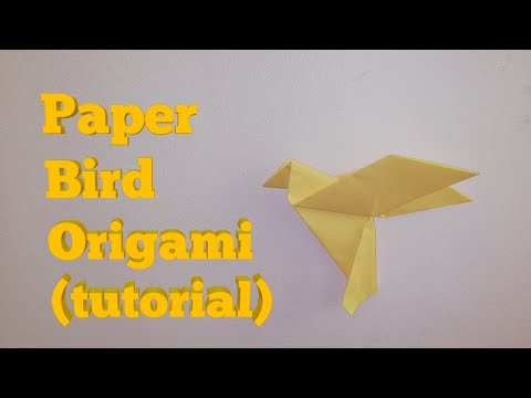 Paper Bird Origami (tutorial) - DIY paper bird origami