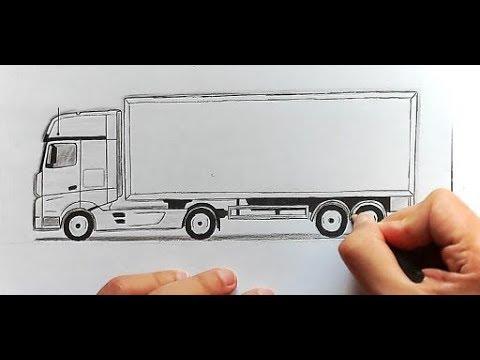 Как легко нарисовать Грузовик поэтапно (Ehedov Elnur) How To Draw A Truck