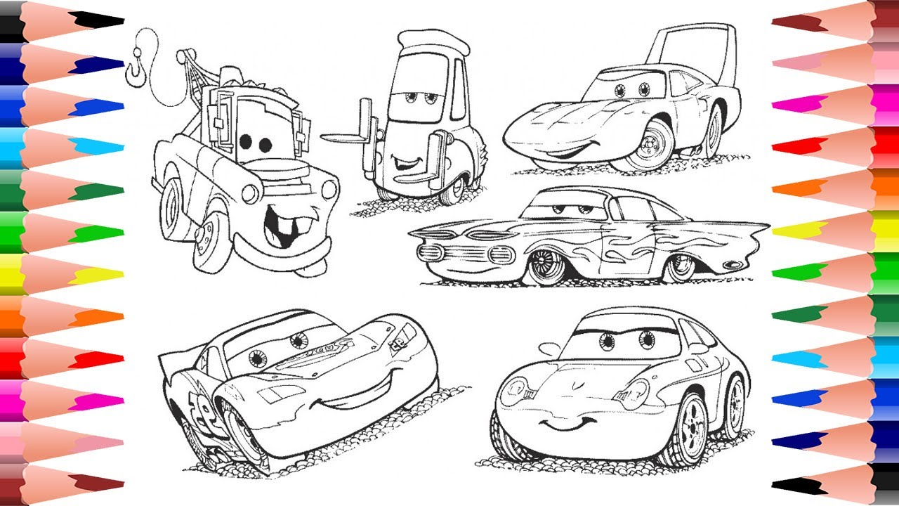 Painting Disney Pixar Cars - Coloring Disney Cars Coloring Pages from  Disney Pixar Cars