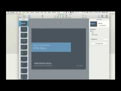 Web Design DeCal - Lecture 1