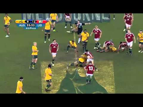 Wallabies vs British & Irish Lions 2nd Test - Highlights