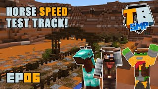 Horse speed test track at the ranch! | Truly Bedrock Season 2 [06] | Minecraft Bedrock SMP