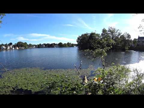 Flax Pond, Lynn MA - Northern side of Flax Pond rest area.