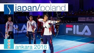 Poland v Japan – Recurve Women's Team Gold Final | Ankara 2016