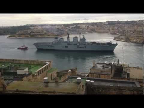 H.M.S. Illustrious Entering Grand Harbour, Malta