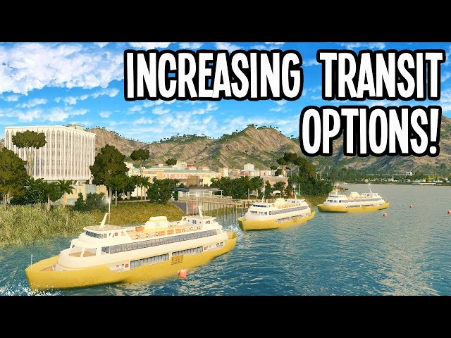 Fantastic Ferries Decrease Traffic & Increase Revenue in Cities Skylines!