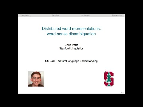 CS224u - Distributed word representations: word-sense disambiguation