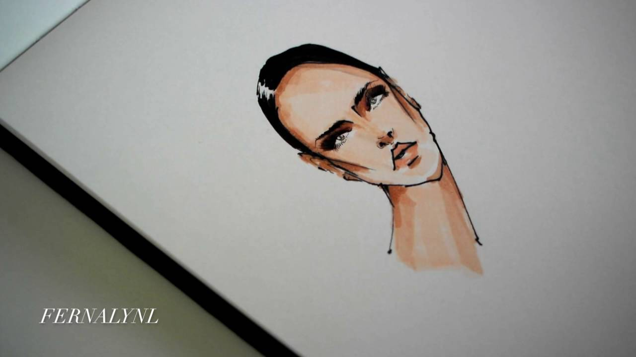 Faces In Fashion Illustration 1 Youtube