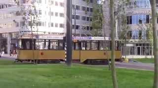 Trams bij Rotterdam Centraal Trams at Rotterdam Centraal Station