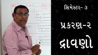 Semester-3 Chemistry Lesson-2 Dravano (HSC / GSEB)