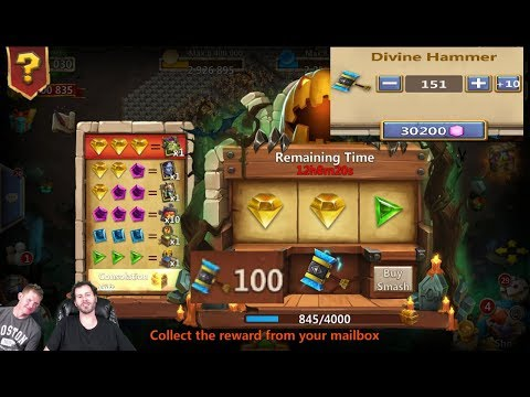 20000 Gems Thunder Gods Slot Machine Gift For Pumpkin DUKE Scraps Castle Clash
