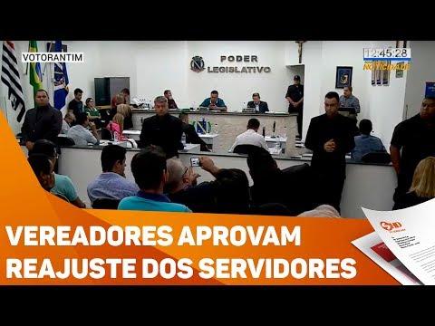 Vereadores aprovam reajuste dos servidores - TV SOROCABA/SBT