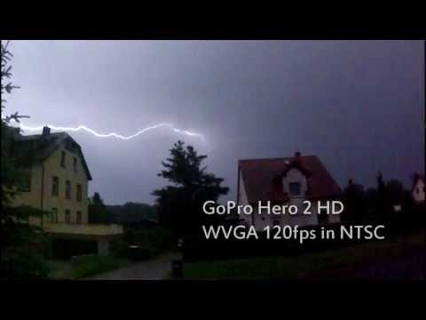 02.07.2012 Gewitter bei Dresden in Slow Motion GoPro Hero2