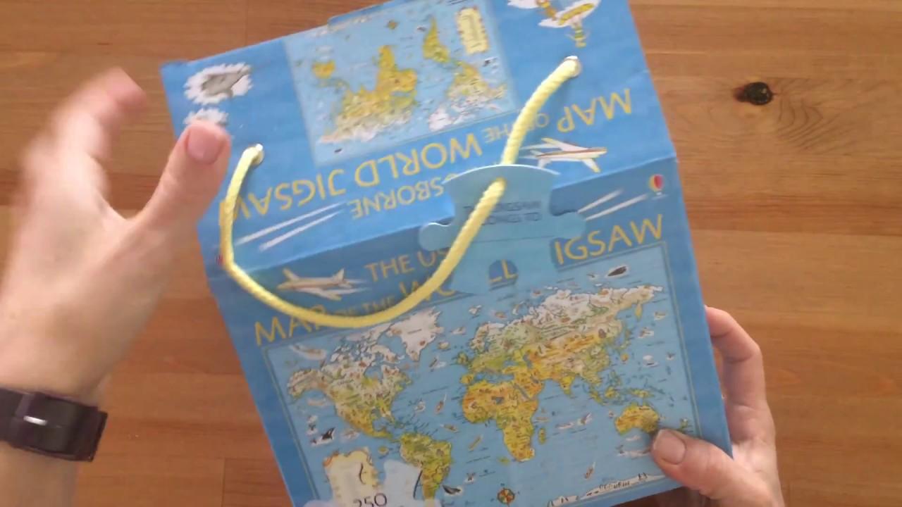 Maps of the World Jigsaw - Usborne - YouTube