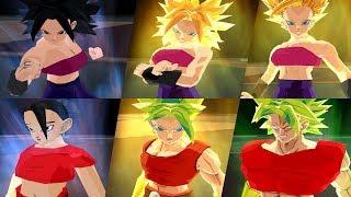 Caulifla y Kale Todas Sus Formas | Dragon Ball Z Budokai Tenkaichi 3 Mod