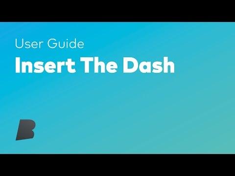 Insert The Dash