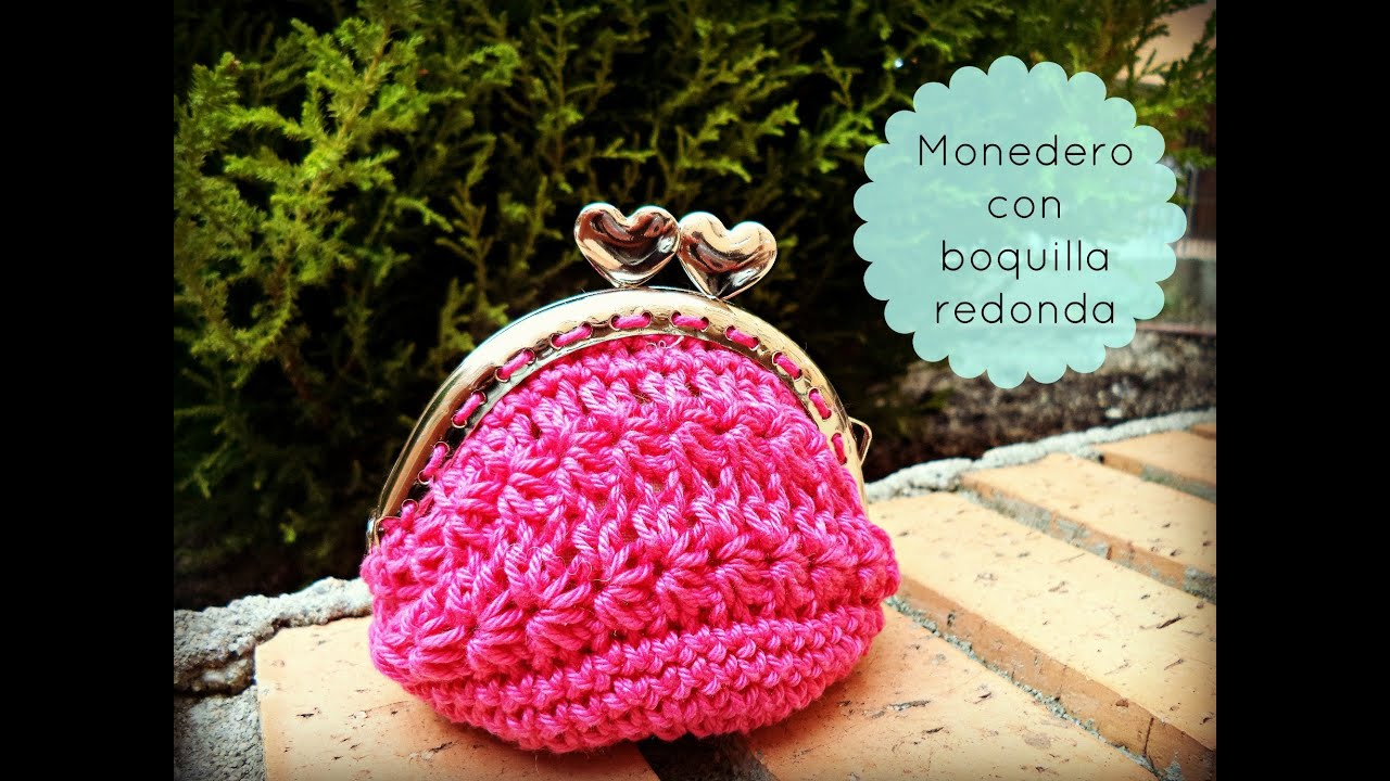 monedero de ganchillo con boquilla redonda crochet purse