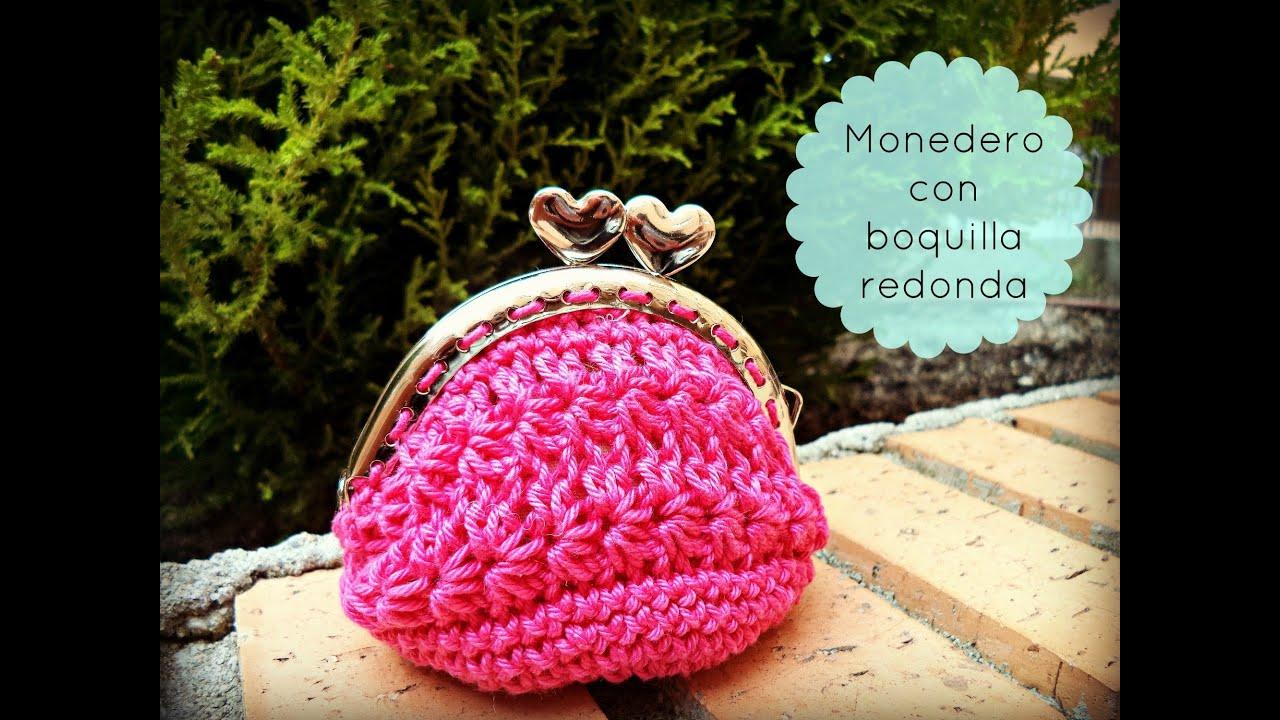 Monedero De Ganchillo Con Boquilla Redonda Crochet Purse - Monederos-ganchillo
