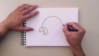 How To Draw Igloo