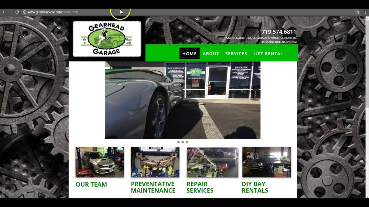 Gearhead garage colorado springs youtube gearhead garage colorado springs solutioingenieria Gallery