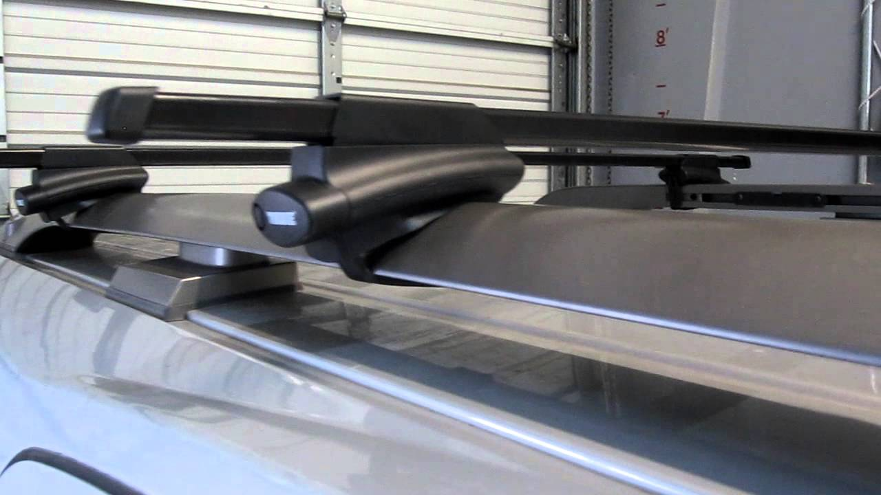 2010 Nissan Armada With Thule 450 Crossroad Square Bar Roof Rack By Rack  Outfitters   YouTube