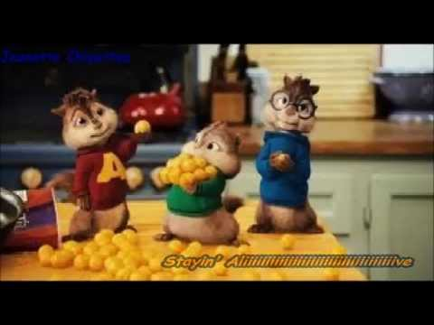 Chipmunks - Stayin' Alive (with lyrics)