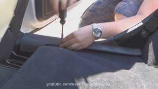 Lada Granta - установка порогов пола.