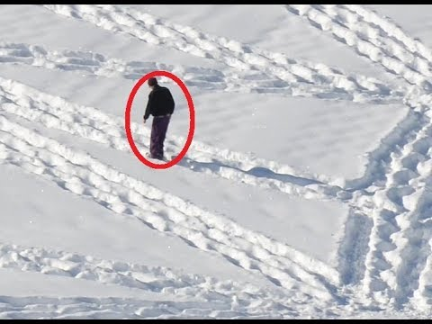 It Looks Like Some Drunk Guy Walking In Circles In The Snow. But Just Wait Until You Zoom Out !