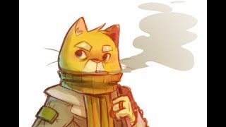 Speed painting  - Photoshop - Cat Character design