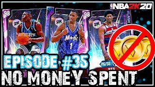 NO MONEY SPENT SERIES #35 - I FINALLY SNIPED A GALAXY OPAL! IM GETTING THIS 12-0! NBA 2k20 MyTEAM