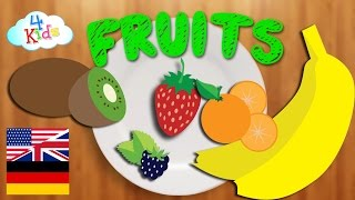 Bilingual Food-FRUITS Learning Video for Children and Toddlers (German-English)