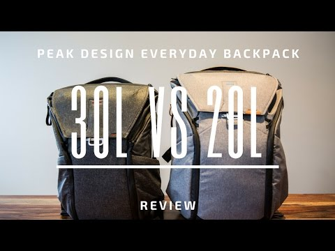 Peak Design Everyday Backpack 30L vs 20L - A Review and Comparison