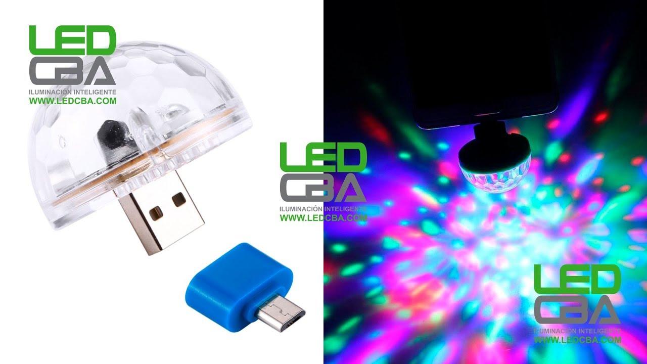 6386ff9e958 Mini Bola Led Rgb Audioritmica Celulares Luces Usb Microusb - YouTube
