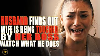 Husband Finds Out Wife Is Being Touched By Her Boss, Watch What He Does.