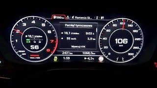 2016 audi a4 b9 2 0 tfsi 252hp quattro acceleration test 0 100 km h 252 hp