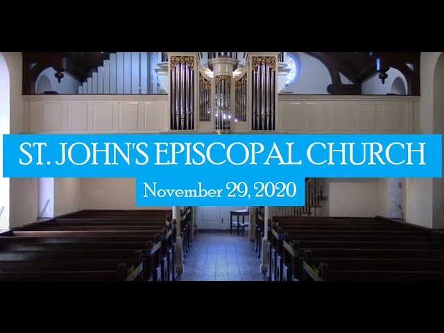 St. John's indoor service November 29, 2020