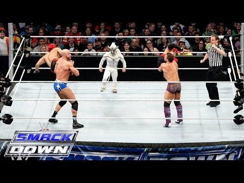 Los Matadores & El Torito vs. Cesaro, Kidd & Natalya – 6-Being Interspecies Match: SmackDown