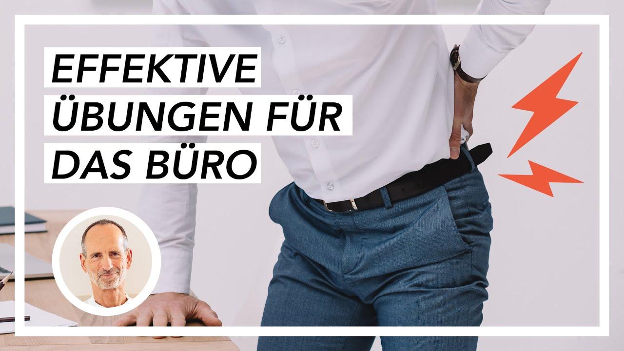 Schmerzen im oberen Rücken - Die besten Übungen im Büro..