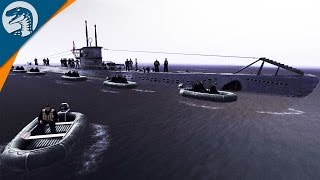 U-BOAT COMMANDO MISSION | U-149 | Men of War: Assault Squad 2 Gameplay - PRIVATE MOD