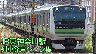 【3列車並走シーンあり】JR東神奈川駅 列車発着シーン集 2017.5.19