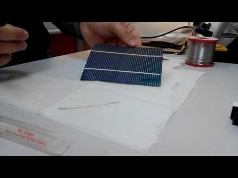 How to solder tabbing wire to CIGS thin film solar cells